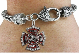 <bR>                   EXCLUSIVELY OURS!!<BR>             AN ALLAN ROBIN DESIGN!!<BR>    CLICK HERE TO SEE 600+ EXCITING<BR>       CHANGES THAT YOU CAN MAKE!<BR>                 LEAD & NICKEL FREE!!<BR>W1284SB - FIRE DEPARTMENT SHIELD<BR>   CHARM & HEART CLASP BRACELET <BR>         FROM $5.63 TO $12.50 �2012