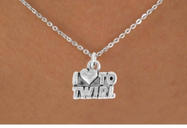 "<bR>               EXCLUSIVELY OURS!!<BR>         AN ALLAN ROBIN DESIGN!!<BR>CLICK HERE TO SEE 600+ EXCITING<BR>   CHANGES THAT YOU CAN MAKE!<BR>              LEAD & NICKEL FREE!!<BR>        W904SN - ""I LOVE TO TWIRL""<Br>  NECKLACE FROM $4.50 TO $8.35"