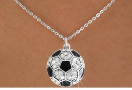 <bR>               EXCLUSIVELY OURS!!<BR>         AN ALLAN ROBIN DESIGN!!<BR>CLICK HERE TO SEE 600+ EXCITING<BR>   CHANGES THAT YOU CAN MAKE!<BR>              LEAD & NICKEL FREE!!<BR>     W908SN - AUSTRIAN CRYSTAL<Br>SOCCER BALL CHARM  &  NECKLACE<Br>               FROM $5.40 TO $9.85