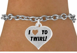 "<bR>               EXCLUSIVELY OURS!!<BR>         AN ALLAN ROBIN DESIGN!!<BR>CLICK HERE TO SEE 600+ EXCITING<BR>   CHANGES THAT YOU CAN MAKE!<BR>              LEAD & NICKEL FREE!!<BR>        W963SB - ""I LOVE TO TWIRL"" <Br>     BRACELET FROM $4.15 TO $8.00"