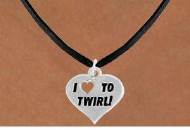 "<bR>               EXCLUSIVELY OURS!!<BR>         AN ALLAN ROBIN DESIGN!!<BR>CLICK HERE TO SEE 600+ EXCITING<BR>   CHANGES THAT YOU CAN MAKE!<BR>              LEAD & NICKEL FREE!!<BR>      W963SN - ""I LOVE TO TWIRL"" <Br>      NECKLACE FROM $4.50 TO $8.35"