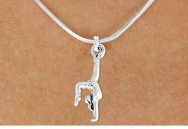 "<bR>               EXCLUSIVELY OURS!!<BR>         AN ALLAN ROBIN DESIGN!!<BR>CLICK HERE TO SEE 600+ EXCITING<BR>   CHANGES THAT YOU CAN MAKE!<BR>              LEAD & NICKEL FREE!!<BR>  W965SN - ""GYMNAST ON HANDS""<Br>    NECKLACE FROM $4.50 TO $8.35"