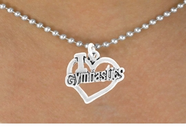 "<bR>               EXCLUSIVELY OURS!!<BR>         AN ALLAN ROBIN DESIGN!!<BR>CLICK HERE TO SEE 600+ EXCITING<BR>   CHANGES THAT YOU CAN MAKE!<BR>              LEAD & NICKEL FREE!!<BR>  W966SN - ""I LOVE GYMNASTICS""<Br>    NECKLACE FROM $4.50 TO $8.35<BR>                                   �2011"