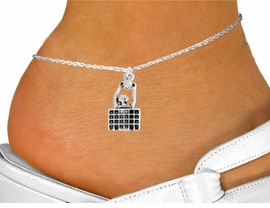 """<bR>               EXCLUSIVELY OURS!!<BR>         AN ALLAN ROBIN DESIGN!!<BR>CLICK HERE TO SEE 600+ EXCITING<BR>   CHANGES THAT YOU CAN MAKE!<BR>              LEAD & NICKEL FREE!!<BR> W967SAK - """"SPIKE"""" VOLLEYBALL <Br>     ANKLET FROM $3.35 TO $8.00"""