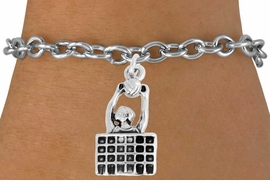 "<bR>               EXCLUSIVELY OURS!!<BR>         AN ALLAN ROBIN DESIGN!!<BR>CLICK HERE TO SEE 2000+ EXCITING<BR>   CHANGES THAT YOU CAN MAKE!<BR>              LEAD & NICKEL FREE!!<BR>    W967SB - ""BLOCKED & SPIKED"" <BR>                       VOLLEYBALL <Br>     BRACELET FROM $4.15 TO $8.00<BR>                                  �2011"