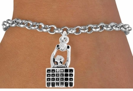"<bR>               EXCLUSIVELY OURS!!<BR>         AN ALLAN ROBIN DESIGN!!<BR>CLICK HERE TO SEE 2000+ EXCITING<BR>   CHANGES THAT YOU CAN MAKE!<BR>              LEAD & NICKEL FREE!!<BR>    W967SB - ""BLOCKED & SPIKED""<BR>                        VOLLEYBALL <Br>     BRACELET FROM $4.15 TO $8.00<BR>                                  �2011"