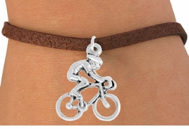 "<bR>               EXCLUSIVELY OURS!!<BR>         AN ALLAN ROBIN DESIGN!!<BR>CLICK HERE TO SEE 600+ EXCITING<BR>   CHANGES THAT YOU CAN MAKE!<BR>              LEAD & NICKEL FREE!!<BR>  W968SB - ""BICYCLIST"" BRACELET<Br>                FROM $4.15 TO $8.00"