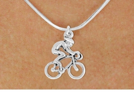 "<bR>               EXCLUSIVELY OURS!!<BR>         AN ALLAN ROBIN DESIGN!!<BR>CLICK HERE TO SEE 600+ EXCITING<BR>   CHANGES THAT YOU CAN MAKE!<BR>              LEAD & NICKEL FREE!!<BR>  W968SN - ""BICYCLIST"" NECKLACE<Br>               FROM $4.50 TO $8.35<BR>                                 �2011"