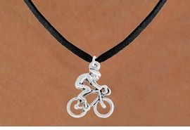 "<bR>               EXCLUSIVELY OURS!!<BR>         AN ALLAN ROBIN DESIGN!!<BR>CLICK HERE TO SEE 600+ EXCITING<BR>   CHANGES THAT YOU CAN MAKE!<BR>              LEAD & NICKEL FREE!!<BR>  W968SN - ""BICYCLIST"" NECKLACE<Br>               FROM $4.50 TO $8.35"