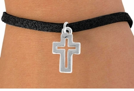 "<bR>               EXCLUSIVELY OURS!!<BR>         AN ALLAN ROBIN DESIGN!!<BR>CLICK HERE TO SEE 600+ EXCITING<BR>   CHANGES THAT YOU CAN MAKE!<BR>              LEAD & NICKEL FREE!!<BR>  W974SB - ""OPEN CROSS"" BRACELET<Br>                FROM $4.15 TO $8.00"