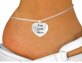 "<bR>               EXCLUSIVELY OURS!!<BR>         AN ALLAN ROBIN DESIGN!!<BR>CLICK HERE TO SEE 600+ EXCITING<BR>   CHANGES THAT YOU CAN MAKE!<BR>              LEAD & NICKEL FREE!!<BR>    W978SAK - ""TRUE LOVE WAITS""<Br>     ANKLET FROM $3.35 TO $8.00"