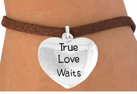 "<bR>               EXCLUSIVELY OURS!!<BR>         AN ALLAN ROBIN DESIGN!!<BR>CLICK HERE TO SEE 600+ EXCITING<BR>   CHANGES THAT YOU CAN MAKE!<BR>              LEAD & NICKEL FREE!!<BR>  W978SB - ""TRUE LOVE WAITS"" &<Br>   BRACELET FROM $4.15 TO $8.00"