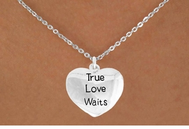 "<bR>               EXCLUSIVELY OURS!!<BR>         AN ALLAN ROBIN DESIGN!!<BR>CLICK HERE TO SEE 600+ EXCITING<BR>   CHANGES THAT YOU CAN MAKE!<BR>              LEAD & NICKEL FREE!!<BR>    W978SN - ""TRUE LOVE WAITS""<Br>  NECKLACE FROM $4.50 TO $8.35<BR>                              �2011"