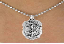 "<bR>                      EXCLUSIVELY OURS!!<BR>                AN ALLAN ROBIN DESIGN!!<BR>       CLICK HERE TO SEE 600+ EXCITING<BR>          CHANGES THAT YOU CAN MAKE!<BR>                     LEAD & NICKEL FREE!!<BR>    W980SN - ""PROTECT HIM PROTECT US""<BR>      POLICE MAN ST. MICHAEL SHIELD &<Br>         NECKLACE FROM $4.50 TO $8.35"