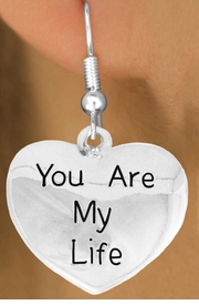"<bR>               EXCLUSIVELY OURS!!<BR>         AN ALLAN ROBIN DESIGN!!<BR>CLICK HERE TO SEE 600+ EXCITING<BR>   CHANGES THAT YOU CAN MAKE!<BR>              LEAD & NICKEL FREE!!<BR>     W981SE - ""YOU ARE MY LIFE""<Br>  EARRINGS FROM $4.50 TO $8.35"