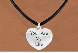 "<bR>               EXCLUSIVELY OURS!!<BR>         AN ALLAN ROBIN DESIGN!!<BR>CLICK HERE TO SEE 600+ EXCITING<BR>   CHANGES THAT YOU CAN MAKE!<BR>              LEAD & NICKEL FREE!!<BR>    W981SN - ""YOU ARE MY LIFE""<Br>  NECKLACE FROM $4.50 TO $8.35"