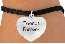 "<bR>               EXCLUSIVELY OURS!!<BR>         AN ALLAN ROBIN DESIGN!!<BR>CLICK HERE TO SEE 600+ EXCITING<BR>   CHANGES THAT YOU CAN MAKE!<BR>              LEAD & NICKEL FREE!!<BR>  W982SB - ""FRIENDS FOREVER"" &<Br>   BRACELET FROM $4.15 TO $8.00"