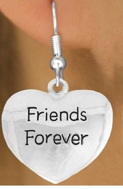 "<bR>               EXCLUSIVELY OURS!!<BR>         AN ALLAN ROBIN DESIGN!!<BR>CLICK HERE TO SEE 600+ EXCITING<BR>   CHANGES THAT YOU CAN MAKE!<BR>              LEAD & NICKEL FREE!!<BR>     W982SE - ""FRIENDS FOREVER""<Br>  EARRINGS FROM $4.50 TO $8.35"