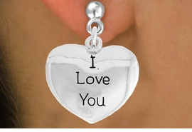 "<bR>               EXCLUSIVELY OURS!!<BR>         AN ALLAN ROBIN DESIGN!!<BR>CLICK HERE TO SEE 600+ EXCITING<BR>   CHANGES THAT YOU CAN MAKE!<BR>              LEAD & NICKEL FREE!!<BR>     W984SE - ""I LOVE YOU""<Br>  EARRINGS FROM $4.50 TO $8.35"