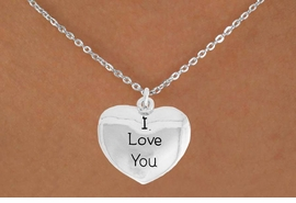 "<bR>               EXCLUSIVELY OURS!!<BR>         AN ALLAN ROBIN DESIGN!!<BR>CLICK HERE TO SEE 600+ EXCITING<BR>   CHANGES THAT YOU CAN MAKE!<BR>              LEAD & NICKEL FREE!!<BR>    W984SN - ""I LOVE YOU""<Br>  NECKLACE FROM $4.50 TO $8.35"