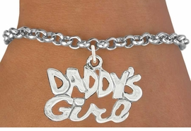 "<bR>               EXCLUSIVELY OURS!!<BR>         AN ALLAN ROBIN DESIGN!!<BR>CLICK HERE TO SEE 600+ EXCITING<BR>   CHANGES THAT YOU CAN MAKE!<BR>              LEAD & NICKEL FREE!!<BR>     W988SB - ""DADDY'S GIRL"" &<Br>   BRACELET FROM $4.15 TO $8.00"