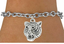"<bR>               EXCLUSIVELY OURS!!<BR>         AN ALLAN ROBIN DESIGN!!<BR>CLICK HERE TO SEE 600+ EXCITING<BR>   CHANGES THAT YOU CAN MAKE!<BR>              LEAD & NICKEL FREE!!<BR>           W989SB - ""TIGER HEAD"" &<Br>   BRACELET FROM $4.15 TO $8.00"