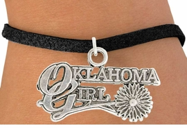 "<bR>               EXCLUSIVELY OURS!!<BR>         AN ALLAN ROBIN DESIGN!!<BR>CLICK HERE TO SEE 600+ EXCITING<BR>   CHANGES THAT YOU CAN MAKE!<BR>              LEAD & NICKEL FREE!!<BR>     W990SB - ""OKLAHOMA GIRL"" &<Br>   BRACELET FROM $4.15 TO $8.00"