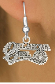 "<bR>               EXCLUSIVELY OURS!!<BR>         AN ALLAN ROBIN DESIGN!!<BR>CLICK HERE TO SEE 600+ EXCITING<BR>   CHANGES THAT YOU CAN MAKE!<BR>              LEAD & NICKEL FREE!!<BR>     W990SE - ""OKLAHOMA GIRL""<Br>  EARRINGS FROM $4.50 TO $8.35"