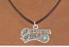 "<bR>               EXCLUSIVELY OURS!!<BR>         AN ALLAN ROBIN DESIGN!!<BR>CLICK HERE TO SEE 600+ EXCITING<BR>   CHANGES THAT YOU CAN MAKE!<BR>              LEAD & NICKEL FREE!!<BR>     W990SN - ""OKLAHOMA GIRL""<Br>  NECKLACE FROM $4.50 TO $8.35"