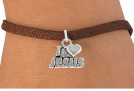 "<bR>               EXCLUSIVELY OURS!!<BR>         AN ALLAN ROBIN DESIGN!!<BR>CLICK HERE TO SEE 600+ EXCITING<BR>   CHANGES THAT YOU CAN MAKE!<BR>              LEAD & NICKEL FREE!!<BR>        W997SB - ""I LOVE JESUS"" &<Br>  BRACELET FROM $4.15 TO $8.00"