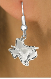 "<bR>               EXCLUSIVELY OURS!!<BR>         AN ALLAN ROBIN DESIGN!!<BR>CLICK HERE TO SEE 600+ EXCITING<BR>   CHANGES THAT YOU CAN MAKE!<BR>              LEAD & NICKEL FREE!!<BR>     W997SE - ""TEXAS LONGHORN""<Br>  EARRINGS FROM $3.65 TO $8.00"