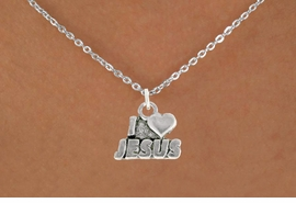 "<bR>               EXCLUSIVELY OURS!!<BR>         AN ALLAN ROBIN DESIGN!!<BR>CLICK HERE TO SEE 600+ EXCITING<BR>   CHANGES THAT YOU CAN MAKE!<BR>              LEAD & NICKEL FREE!!<BR>          W998SN - ""I LOVE JESUS""<Br>  NECKLACE FROM $4.50 TO $8.35"