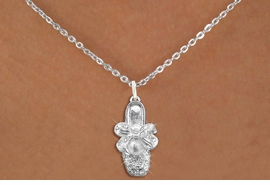 <bR> EXCLUSIVELY OURS!!<Br> AN ALLAN ROBIN DESIGN!!<BR> LEAD, NICKEL & CADMIUM FREE!!<BR> W1270SN - BALLERINA SHOE<BR> CRYSTAL CHARM AND NECKLACE <BR> FROM $5.55