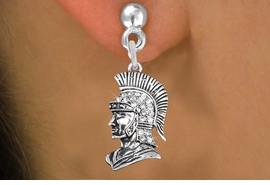 <bR>                 EXCLUSIVELY OURS!!<Br>           AN ALLAN ROBIN DESIGN!!<BR>     LEAD, NICKEL & CADMIUM FREE!! <BR>W1355SE - DETAILED TROJAN WITH <BR>CLEAR CRYSTALS CHARM EARRINGS <BR>       FROM $4.95 TO $10.00 �2012