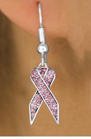 <bR>                 EXCLUSIVELY OURS!!<Br>           AN ALLAN ROBIN DESIGN!!<BR>     LEAD, NICKEL & CADMIUM FREE!! <BR>W1381SE - CRYSTAL PINK AWARENESS <BR>   RIBBON CHARM EARRINGS <BR>       FROM $4.95 TO $10.00 �2012