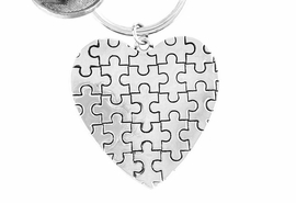 <BR>               EXCLUSIVELY OURS!!<BR>           AN ALLAN ROBIN DESIGN<Br>              LEAD & NICKEL FREE!! <BR>  HIGH POLISHED - MIRROR FINISH<bR>      W15922KC - PUFFED AUTISM<Br>  AWARENESS PUZZLE PIECE HEART<Br>            KEY CHAIN ©2010 FROM<bR>                    $4.50 TO $10.00