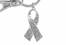 <Br>              EXCLUSIVELY OURS!!<BR>          AN ALLAN ROBIN DESIGN<Br>             LEAD & NICKEL FREE!!<BR>HIGH POLISHED - MIRROR FINISH<bR>W15925KC - AUTISM AWARENESS<Br>PUZZLE PIECE RIBBON KEY CHAIN<Br>    ©2010 FROM $4.50 TO $10.00