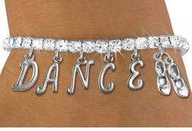 "<Br>              EXCLUSIVELY OURS!!<Br>        AN ALLAN ROBIN DESIGN!!<Br>             LEAD & NICKEL FREE!! <BR>        THIS IS A PERSONALIZED ITEM <Br>W19514B - AUSTRIAN CRYSTAL TAP SHOES <BR> ""DANCE"" THEMED CHARM BRACELET  <BR>     FROM $9.56 TO $21.25  �2012"
