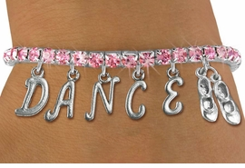 "<Br>              EXCLUSIVELY OURS!!<Br>        AN ALLAN ROBIN DESIGN!!<Br>             LEAD & NICKEL FREE!! <BR>        THIS IS A PERSONALIZED ITEM <Br>W19515B - ROSE CRYSTAL TAP SHOES <BR> ""DANCE"" THEMED CHARM BRACELET  <BR>     FROM $9.56 TO $21.25  �2012"