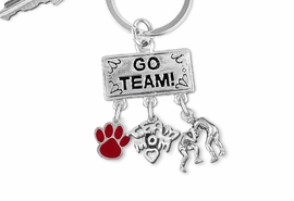 "<Br>                EXCLUSIVELY OURS!! <Br>           AN ALLAN ROBIN DESIGN!! <Br>              LEAD & NICKEL FREE!! <BR>       THIS IS A PERSONALIZED ITEM <Br> W20161KC - SILVER TONE ""GO TEAM!"" <BR>    WRESTLING THEMED KEY RING WITH <BR> COLOR PAW, ""TEAM MOM"" & WRESTLERS <BR>  CHARM FROM $6.41 TO $14.25 �2013"