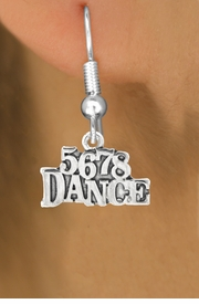 "<bR> EXCLUSIVELY OURS!!<BR> AN ALLAN ROBIN DESIGN!!<BR> LEAD & NICKEL FREE!!<BR> W1071SE - ""5, 6, 7, 8, DANCE""<Br> CHARM EARRINGS FOR $3.25"