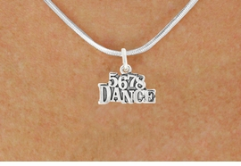 """<bR> EXCLUSIVELY OURS!!<BR> AN ALLAN ROBIN DESIGN!!<BR> LEAD & NICKEL FREE!!<BR> W1071SN - """"5, 6, 7, 8, DANCE""""<Br> CHARM NECKLACE FOR $4.55"""