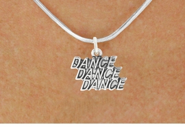"<bR> EXCLUSIVELY OURS!!<BR> AN ALLAN ROBIN DESIGN!!<BR> LEAD & NICKEL FREE!!<BR> W1072SN - ""DANCE, DANCE, DANCE""<Br> CHARM NECKLACE FOR $4.55"