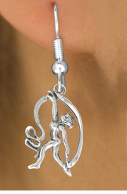 "<bR> EXCLUSIVELY OURS!!<BR> AN ALLAN ROBIN DESIGN!!<BR> LEAD & NICKEL FREE!!<BR>W1073SE - ""DANCER WITH RIBBON""<Br> EARRINGS FOR $3.25"