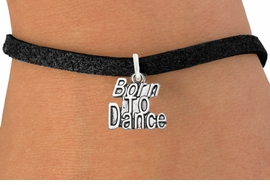 "<bR> EXCLUSIVELY OURS!!<BR> AN ALLAN ROBIN DESIGN!!<BR> LEAD & NICKEL FREE!!<BR> W1094SB - ""BORN TO DANCE"" <Br> CHARM  BRACELET FOR $4.15"