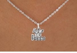"<bR> EXCLUSIVELY OURS!!<BR> AN ALLAN ROBIN DESIGN!!<BR> LEAD & NICKEL FREE!!<BR> W1094SN - ""BORN TO DANCE"" <Br> CHARM NECKLACE FOR $4.55"
