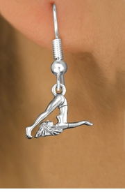 "<bR>                   EXCLUSIVELY OURS!!<BR>             AN ALLAN ROBIN DESIGN!! <BR>                  LEAD & NICKEL FREE!!<BR>    W1104SE - ""GYMNASTIC TUMBLER""<Br>              CHARM EARRINGS   <br>       AS LOW AS $3.25"