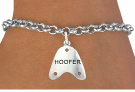 "<bR> EXCLUSIVELY OURS!!<BR> AN ALLAN ROBIN DESIGN!!<BR> LEAD & NICKEL FREE!!<BR> W1109SB - ""HOOFER"" CHARM <Br> BRACELET FOR $4.15"