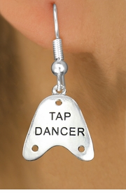 "<bR> EXCLUSIVELY OURS!!<BR> AN ALLAN ROBIN DESIGN!!<BR> LEAD & NICKEL FREE!!<BR> W1110SE - ""TAP DANCER"" CHARM<Br>EARRINGS FOR $3.25"