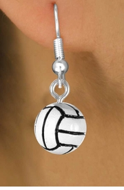 <Br>              EXCLUSIVELY OURS!<Br>          AN ALLAN ROBIN DESIGN<br>              LEAD & NICKEL FREE!!<Br>W12650E - DETAILED VOLLEYBALL<Br>      EARRINGS FROM $3.25 TO $8.00